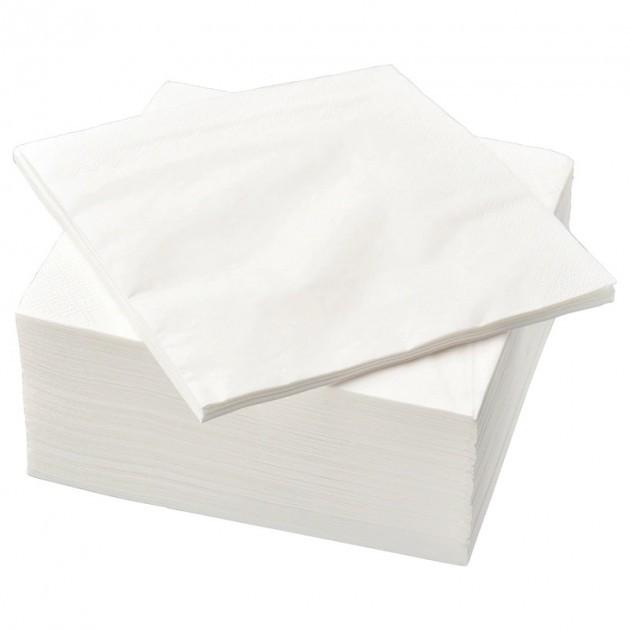 Serviettes en papier Ecolabel blanche 33 x 33 cm - colis de 2 400