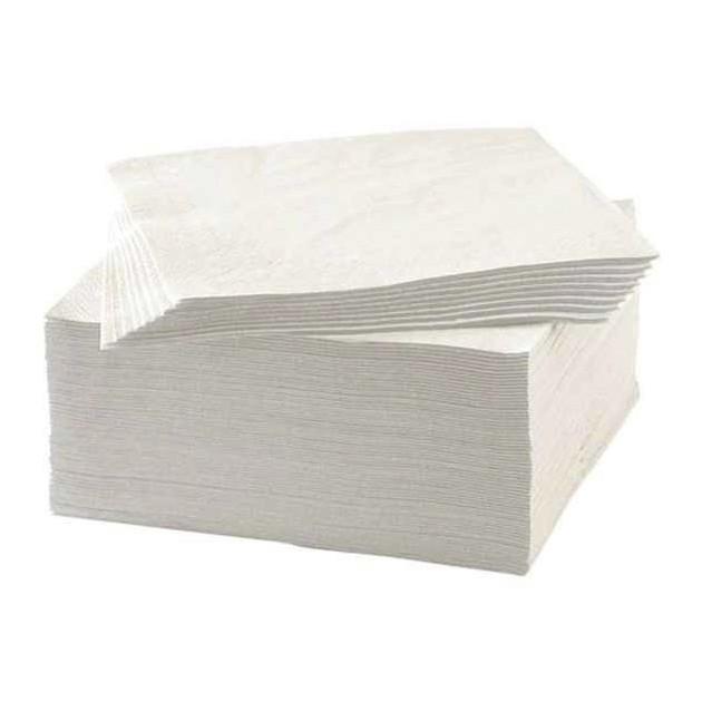 Serviettes blanches 2 plis 38 x 38 cm par 2400
