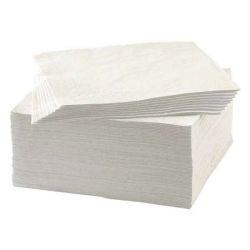 Serviette en papier recyclé blanche standard 1 pli 30x29 cm - carton de 4 000
