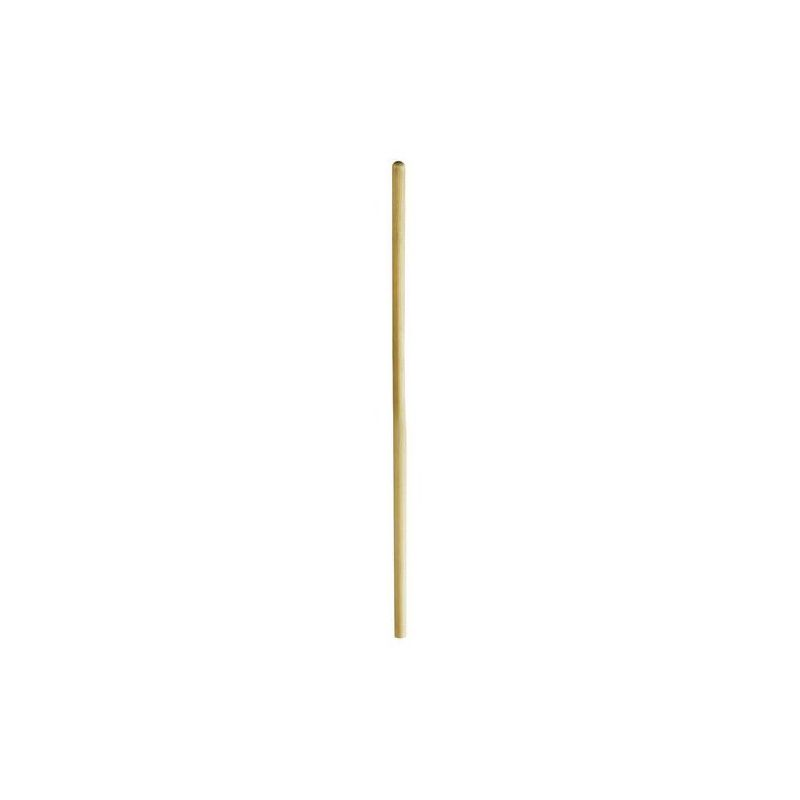 Manche à balai cantonnier en bois sans pas de vis 140 cm Ø 28mm