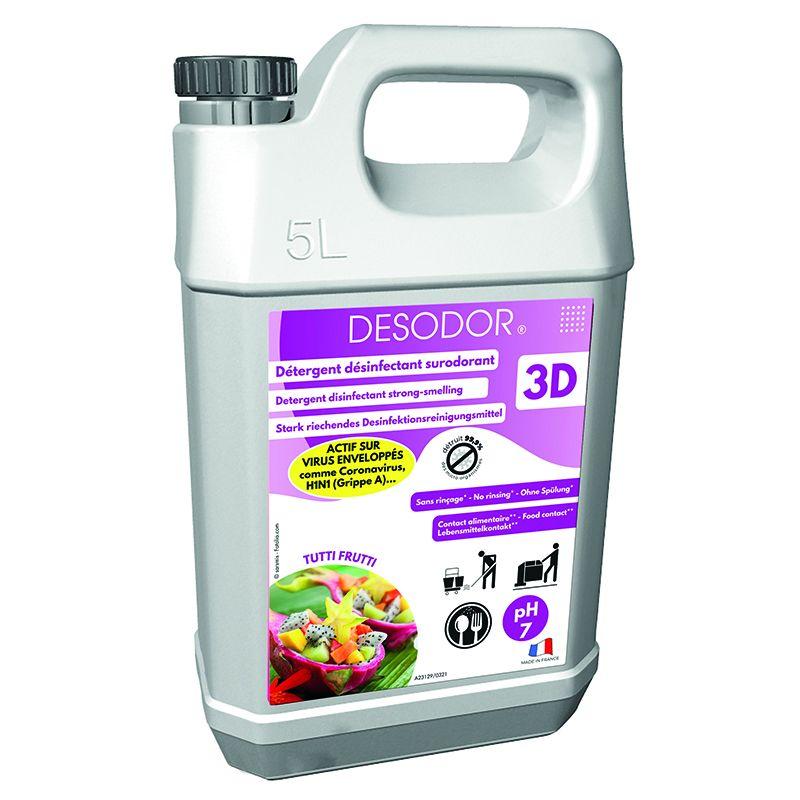 Nettoyant DESODOR 3D Tutti Frutti 5 litres