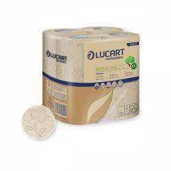 Papier toilette Eco Natural Lucart - colis de 64 rouleaux de 250 feuilles