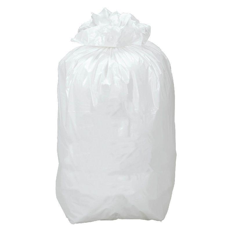 Lot de 500 sacs poubelle Blancs de 50L
