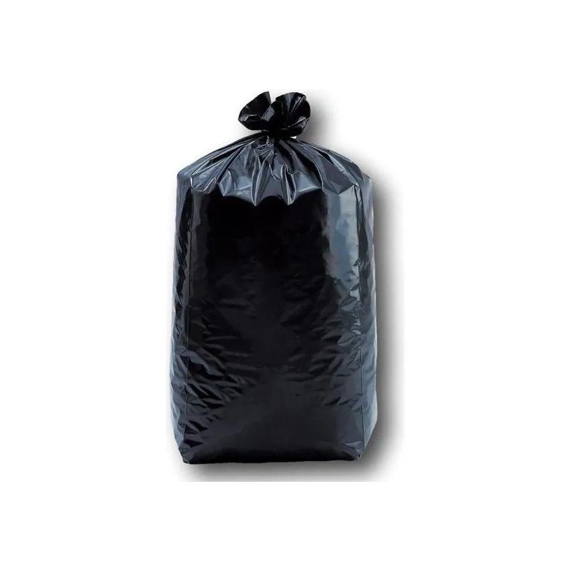 Lot de 250 sacs poubelle noir à usage léger - 100 L