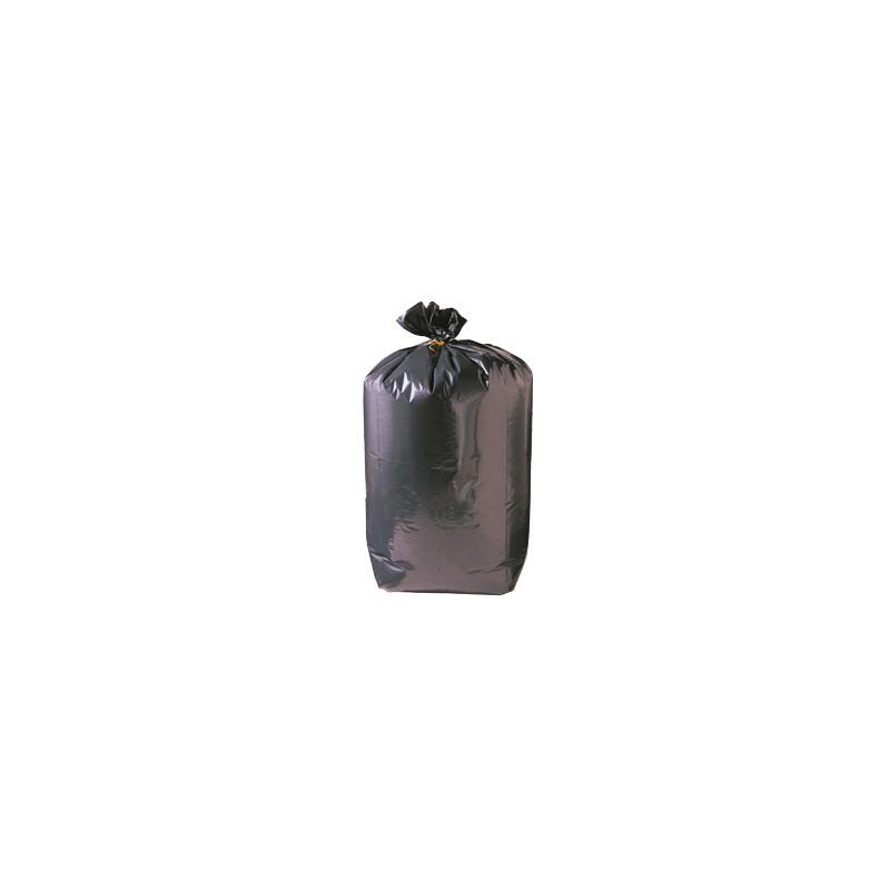 Lot de 100 sacs poubelle noir à usage léger - 200 L