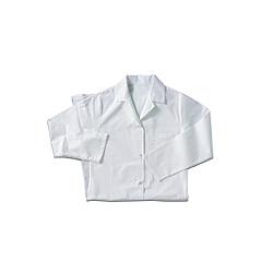 Blouses femmes coton manches longues blanc