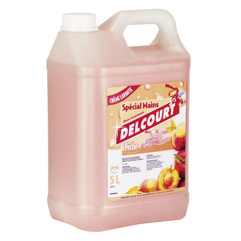 PROMO - Crème lavante nacrée DELCOURT, parfum pêche, 5L