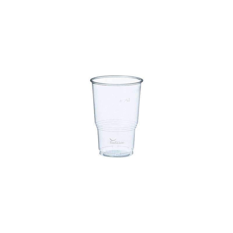 Gobelets boissons froides en PLA biodégradable 25 cl, par 70
