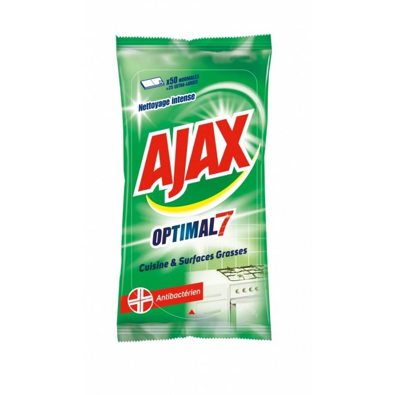 Lingettes antibacteriennes AJAX, par 50
