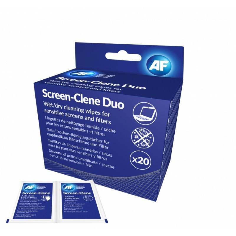 Duo lingettes pour écrans en boîte de 20 paires