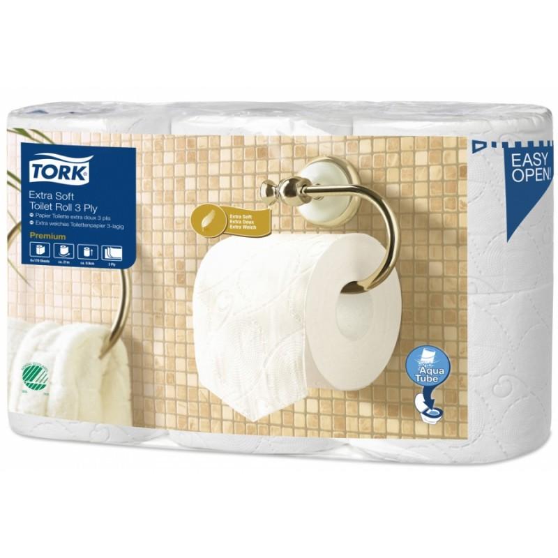 Papier toilette en rouleaux TORK Aqua Tube, 42 rouleaux