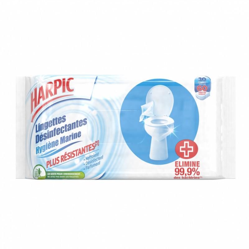 Lingettes désinfectantes HARPIC, par 30