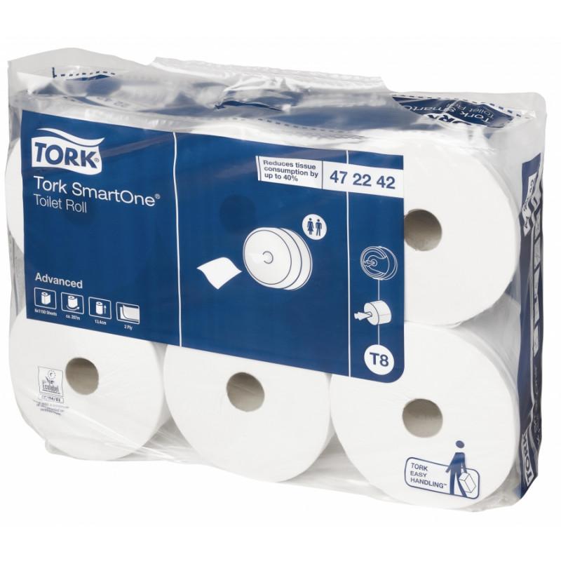 Papier toilette bobines SMARTONE TORK (6 rouleaux de 1150 formats)