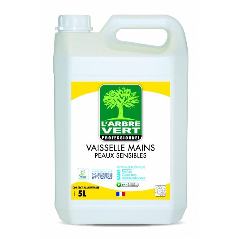 Vaisselle et mains peaux sensibles L'Arbre vert 5L