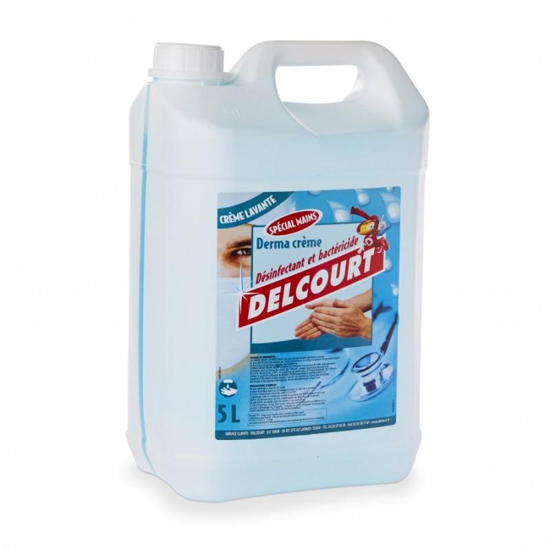 Crème lavante désinfectante pour les mains DELCOURT - Bidon de 5L