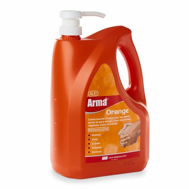 Savon microbilles sans solvant ARMA orange 4 litres