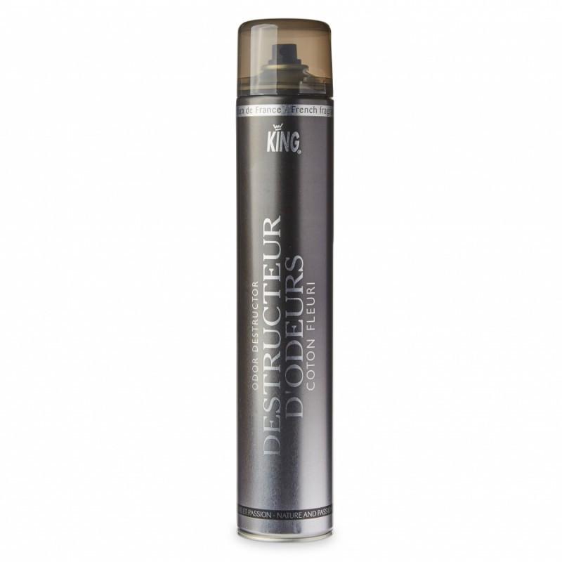 Aérosol destructeur d'odeurs KING 750 ml, parfum coton fleuri
