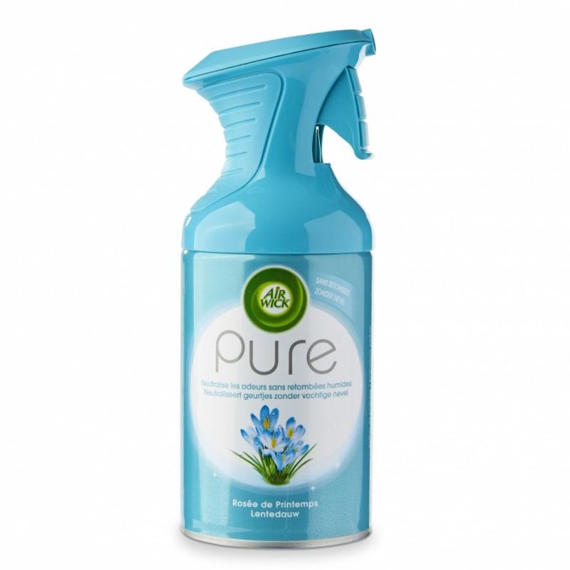 Désodorisant AIRWICK Pure 250 ml, par 2 aérosols - Rosée de printemps