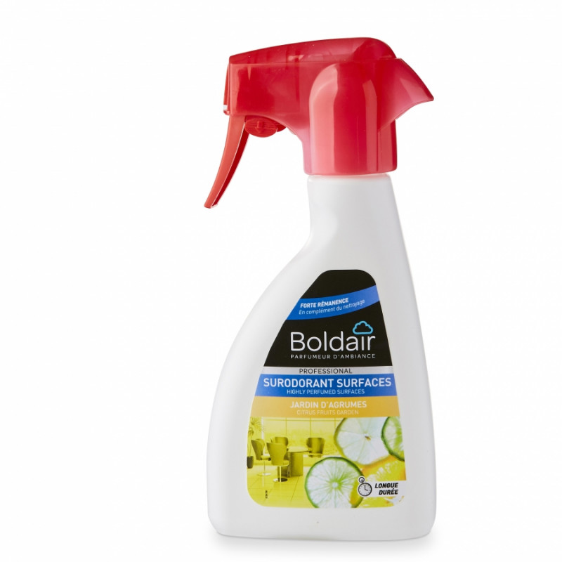 Désodorisant surodorant BOLDAIR 250 ml, parfum Jardin d'agrumes