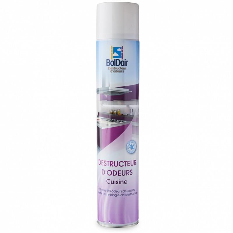 Destructeur d'odeurs Boldair - Anti odeurs persistantes- odeurs cuisine - aérosol de 500 ml
