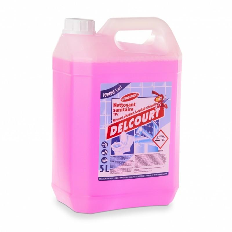 PROMO - Nettoyant liquide sanitaire 4 en 1 DELCOURT 5L