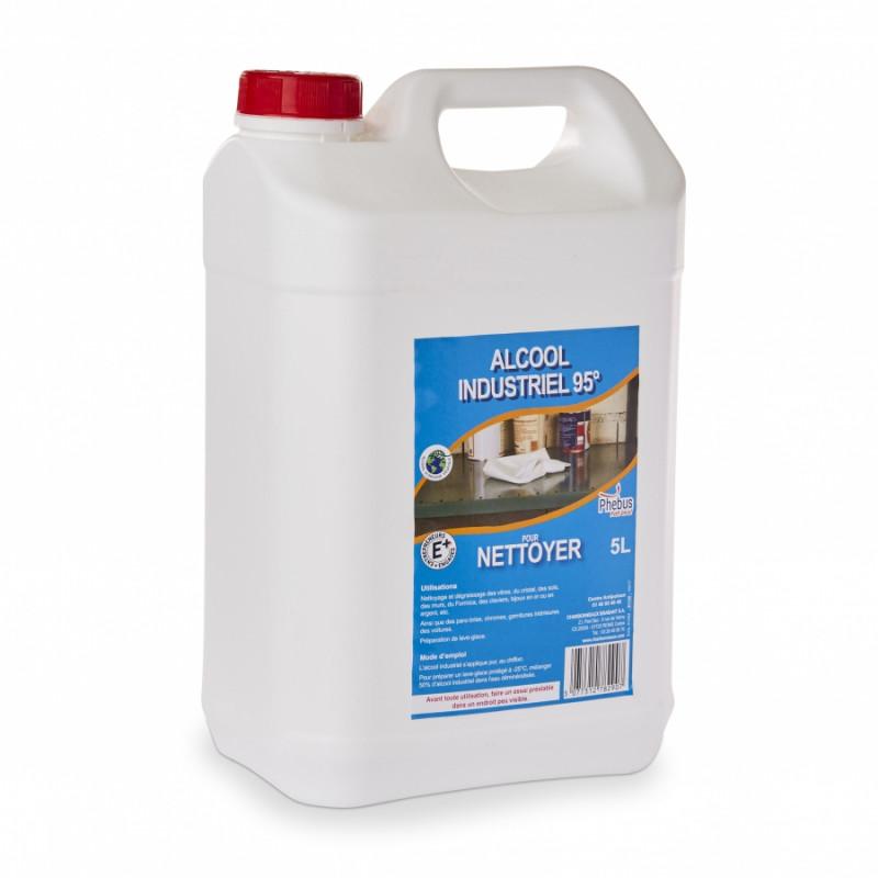 Alcool industriel 95° - Bidon de 5 litres