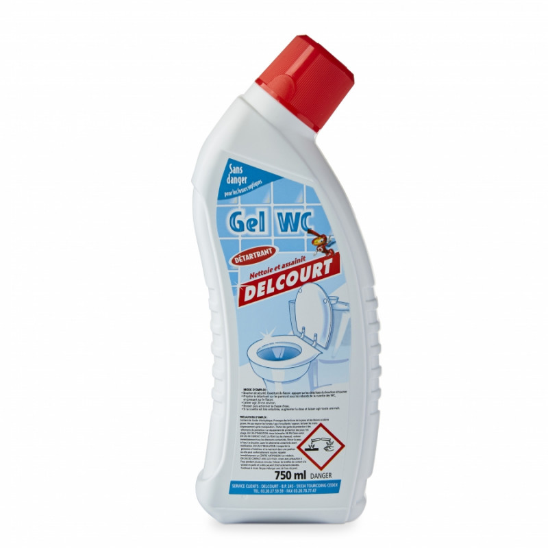 Gel détartrant désinfectant WC DELCOURT Pro 750 ml, par 4