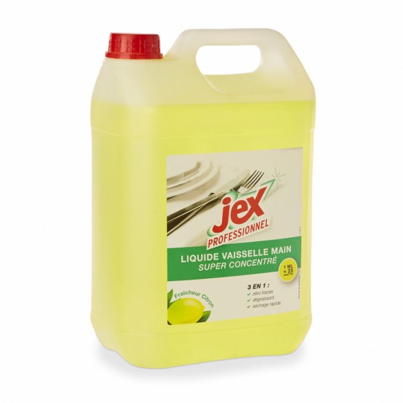 Liquide vaisselle Jex citron, 5l ou 1l