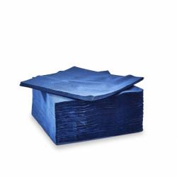 Serviettes de couleurs bleu