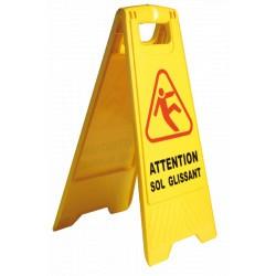 Panneau d'avertissement sol glissant