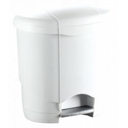 Poubelle design blanche ovale
