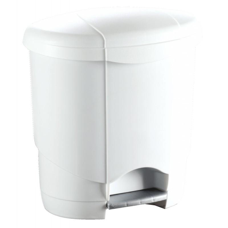 Poubelle design blanche - Forme ovale