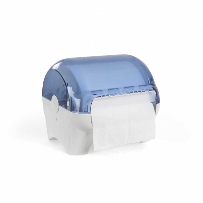 Distributeur caréné pour bobine d'essuyage industriel