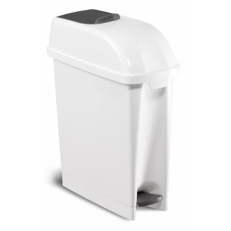 Poubelle blanche sanitaire spécial hygiène féminine 17L
