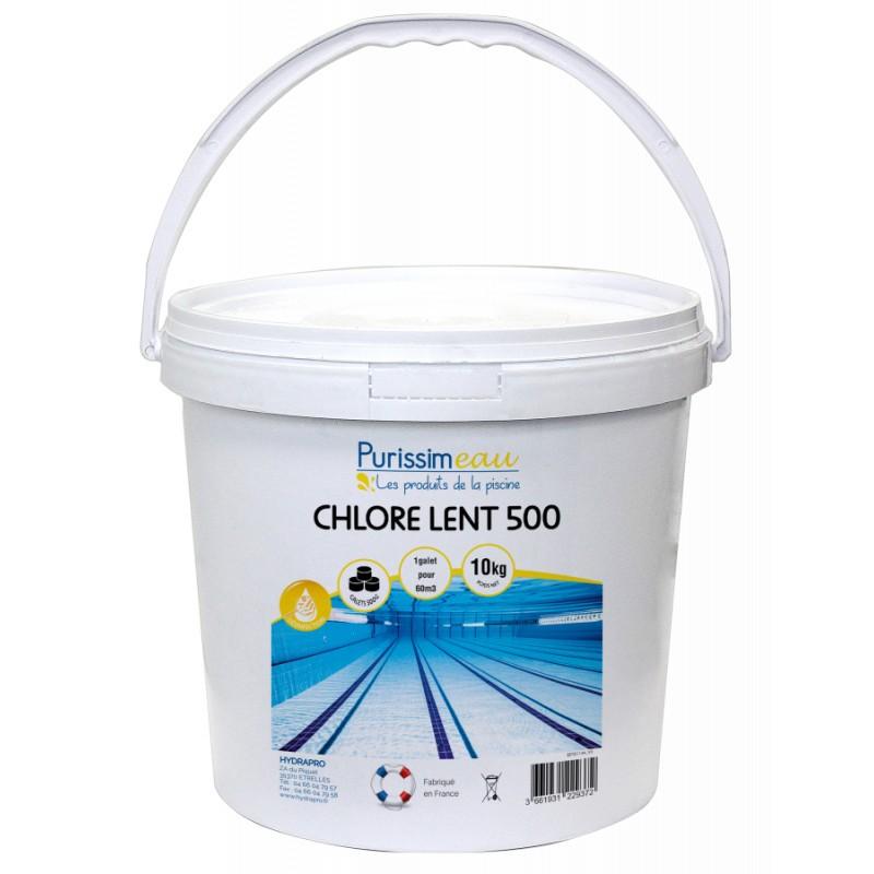 PROMO - Chlore lent 500 Purissimeau, 10Kg