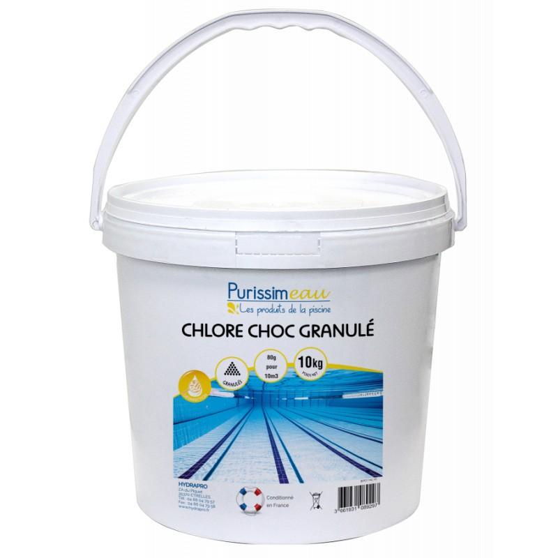 PROMO - Chlore choc granulé PURISSIMEAU, 10 Kg