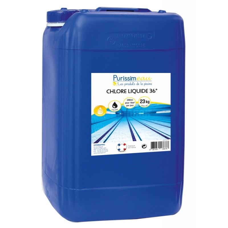 PROMO - Chlore liquide 36° PURISSIMEAU, 23Kg