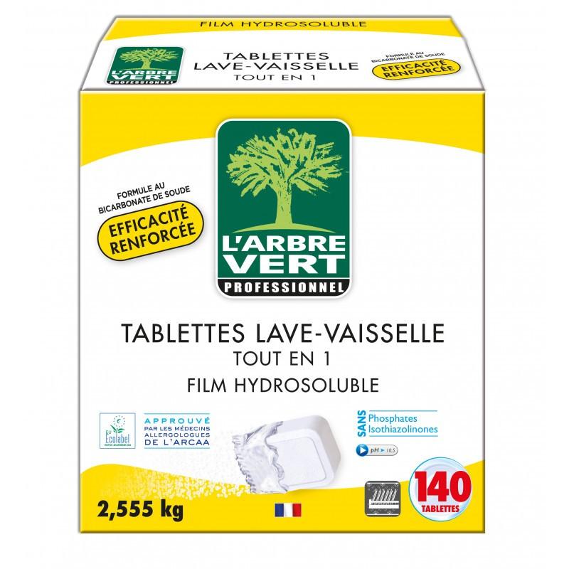 Tablettes lave vaisselle tout en un, cycle court, L'Arbre Vert