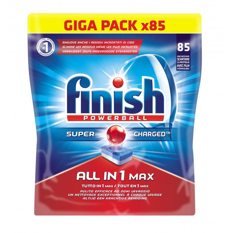 Pastille lave vaisselle FINISH tout en 1, 85 tablettes