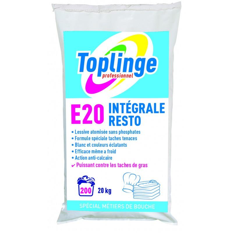 Lessive en poudre TOPLINGE RESTO, sac 20 kg