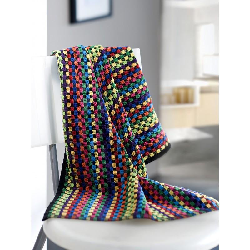 Torchons multicolores 50 x 80 cm, par 6