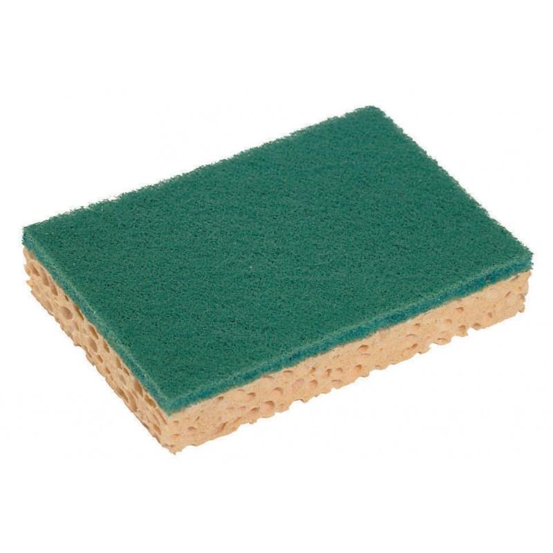 Eponges vertes DELCOURT avec face grattante, vendu par lot de 10