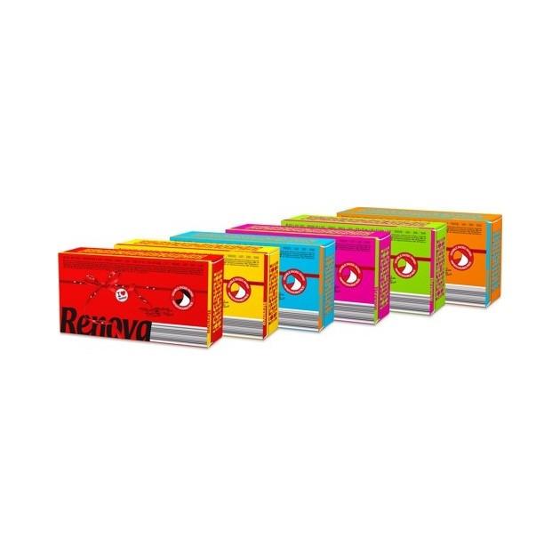 Mouchoir jetable coloré et parfumé Color Red Label Renova - lot de 40 paquets de 6 étuis