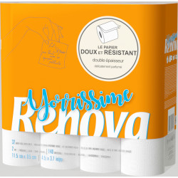 2+1 GRATUIT Papier toilette Yorrissime Renova- colis de 32 rouleaux de 140 feuilles