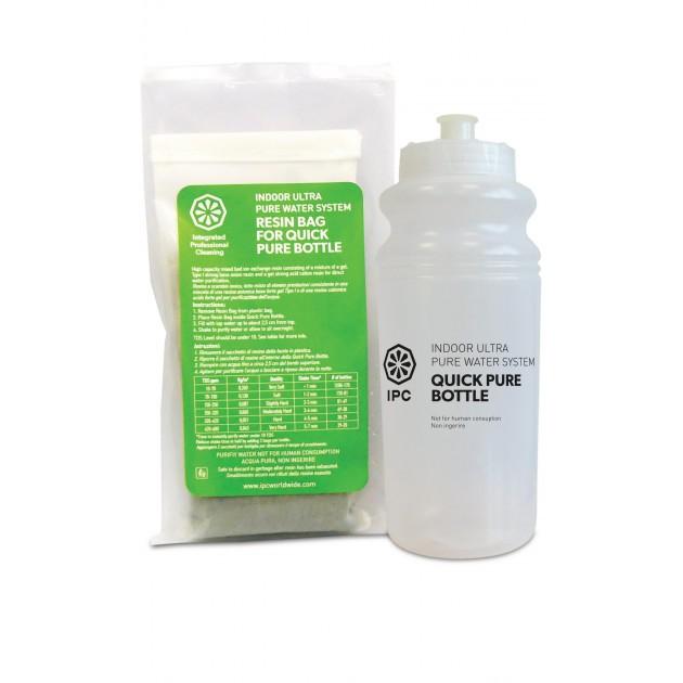 Kit flacon Quick Pure 650 ml et résines pour eau déminéralisée système Cleano Pulex