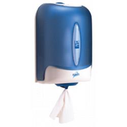 Distributeur essuie-mains Tork Reflex MINI à dévidage central bleu