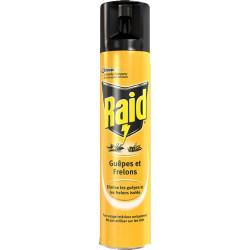 Insecticide Guêpes et Frelons aérosol Raid-300 ml