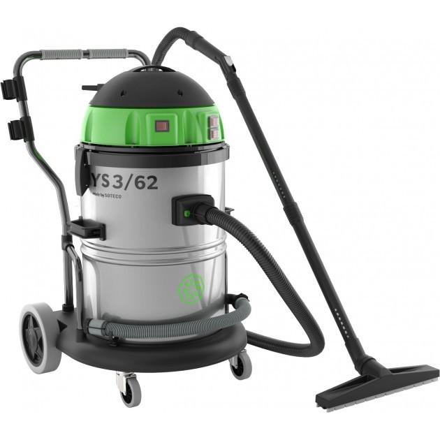 Aspirateur eau et poussière cuve inox 62 L YS 3/62 ICA
