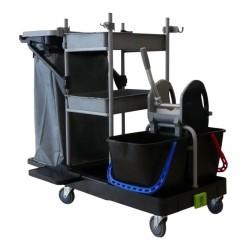 Chariot de ménage-lavage avec presse Integral 7 Black is green ICA