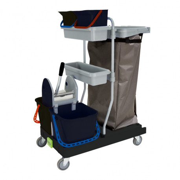 Chariot de ménage professionnel avec presse Integral 36 Black is green ICA